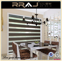 RRAJ 100 polyester blinds zebra roller window curtain blackout