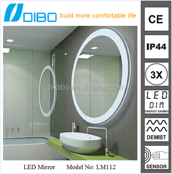 DIBO factory high sales furniture of bathroom series modern round acrylic mirror