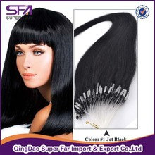 Best selling unprocessed double drawn micro loop hair extensions
