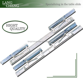 Double Side Spring Telescopic Dining Table Slide Runner(extension table mechanism)