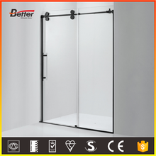 304SUS frame 10mm tempered glass boat shower stall