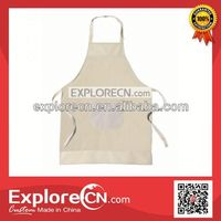 Customized color kitchen cotton cooking apron