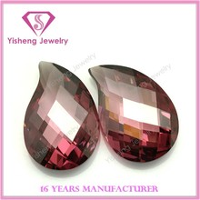 Simulated Comma Shape Both Turtle Pure Rouge CZ Gemstone For Turkey Buyers