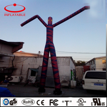 6m Tall Colorful Single Leg Inflatable Air Dancers Inflatable Wave Man For Advertising