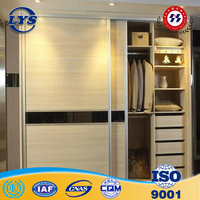 Cheap price Aluminum Sliding Door aluminum door in the bedroom closet door