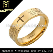 Factory direct sale tungsten gold ring designs for men