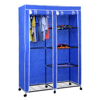 RT-125 Design simple fabric portable standing movable rolling portable wardrobe closets