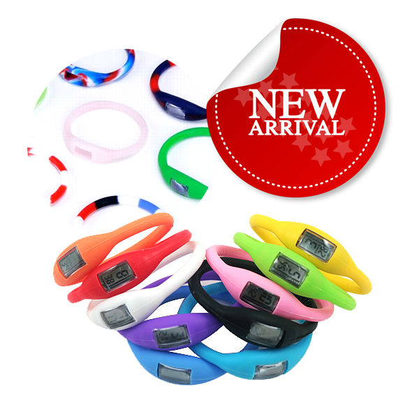 wholesale multi colors waterproof digital sport silicone wrist watch