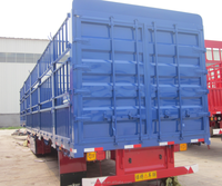 Tri-axle box type flat bed trailer with side cover stake semi trailer for sale