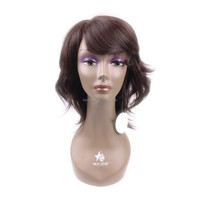 2014 fashion Tangle Free Natural Black African American Wig
