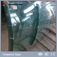 3mm-19mm tempered curved glass weight