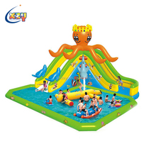 Adult Outdoor giant inflatable castle slide water Pool amusement park