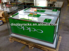 brilliant high quality retail shop wooden display showcase/mobile phone display cabinet