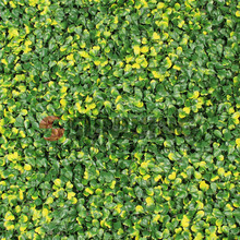 easily assembled plastic yellow leaves artificial garden hedge
