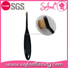 hot selling eyeliner oval makeup brush with straight synthetic hair