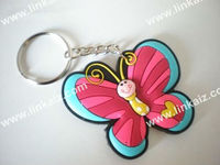 Personalized Key Tag Buckle Ring Chain /Holder Key chain Keytag Keybuckle rubber Butterfly Keychain