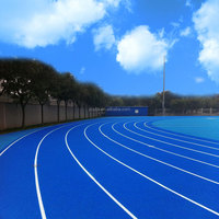 Good look blue colour rubber & plastic running track