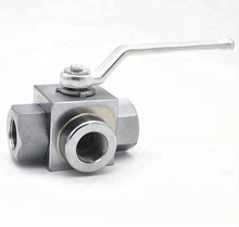 <strong>Stainless</strong> Steel Material Hydraulic oil Medium High Pressure 3 Way Ball Valve