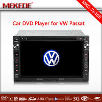 2 din 7 inch VW passat navigation system with DVD, GPS, Radio, Bluetooth, Ipod, SD, USB, Free GPS Map from Shenzhen
