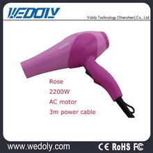 Powerful AC Motor Nylon Material Travel Hair Drier