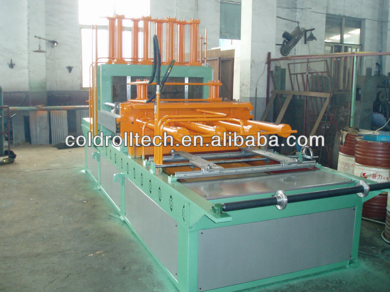 Corrugated fin forming machine for transformer tank manufacturing