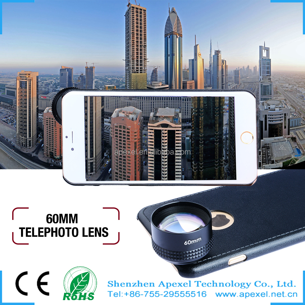 mobile phone cover 2x telescope lens 2016 new accessories smart phone lens for Iphone6/6s/plus