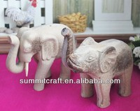 Rough blankpainting elephant afrian wood carved animals