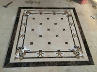 Home and hotel corridor pattern tiles marble inlay flooring design