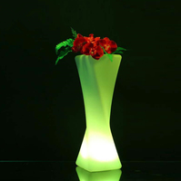 Funky furniture battery colorful LED stand flower pot vase with 16 colors changing