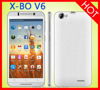 Hot X-BO V6 Android Smartphone 5.5 inch MTK6582 Quad Core Dual Sim 3G GPS WIFI Smart Mobile Phone