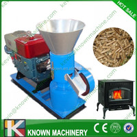 High quality of 100~500 kg/h diesel type sawdust compressing machine / wood fuel pellets compressing machine