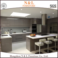 Kitchen accessory included Aluminum channel install timber line modern kitchen design