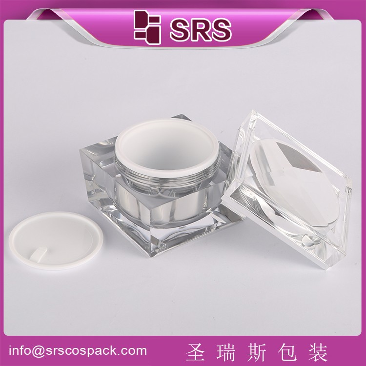 SRS Square Shape 30g 50g 100g Cosmetic Empty Jar