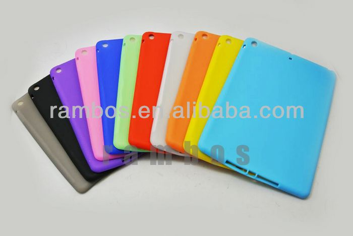 Silicon Rubber Case Tablet Back Cover Skin Case for ipad 5