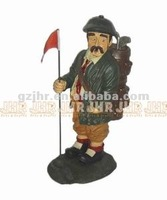 Decorative poly resin golf player star craft