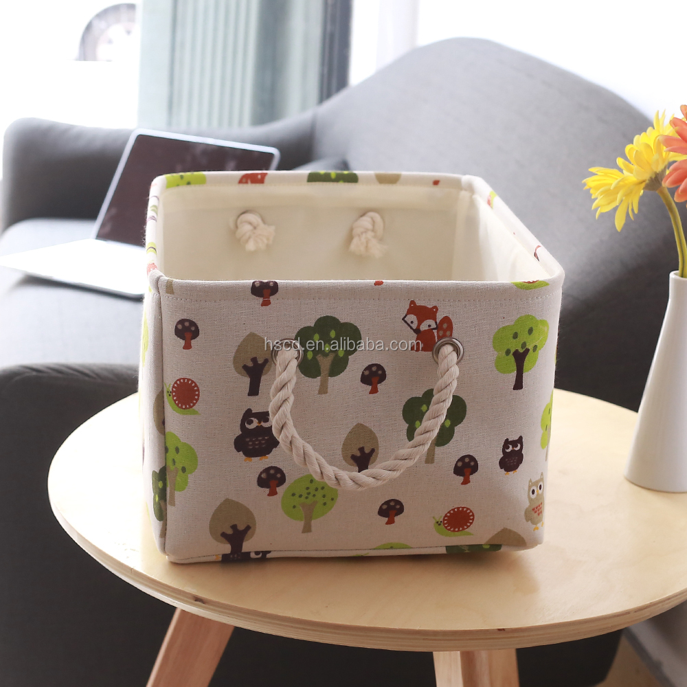 2017 Fabric Foldable Storage Box toy storage tote large