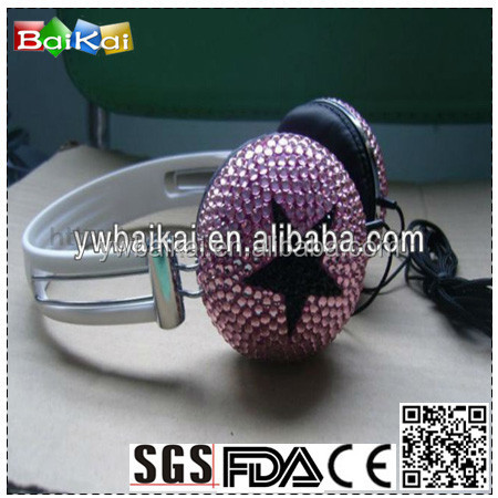 fashion trend bling bling rhinestone headphone