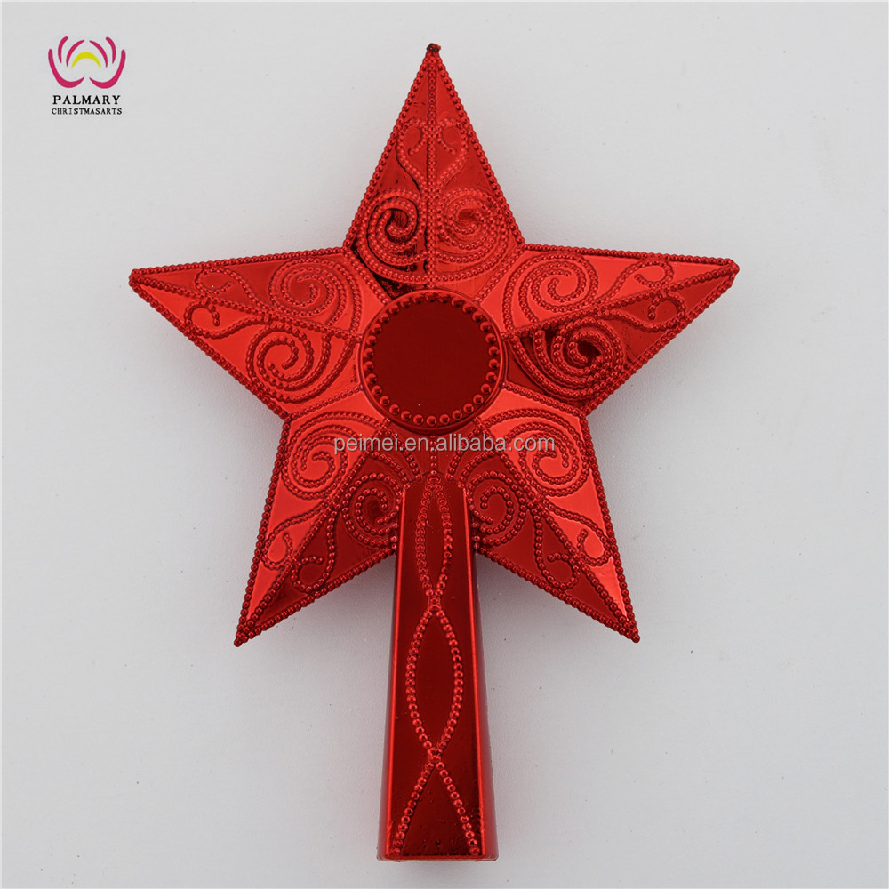 Customize unique christmas tree topper craft, Star Tree Top christmas outdoor decoration ornament christmas bauble