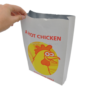 customized take away aluminum foil food paper bag