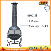 165cm H Outdoor wood burning screen mesh chimeneas/heater