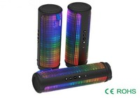 360 Degree Colorful LED Light Portable Bluetooth Speaker Wireless Waterproof