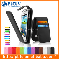Set Screen Protector Stylus And Case For Samsung Galaxy Fame S6810 , PU Leather Mobile Phone Credit Card Case