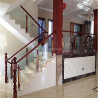 Tempered glass handrail/handrail mounting bracket /indoor railing design