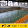 Orange Indoor Basketball Court PVC Sports Flooring Roll