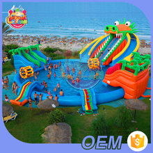 Not Easy To Burst Fair Prices Custom Aqua Rides Amusement Park Equipment Inflatable Water Park With Pool For Adults And Kids