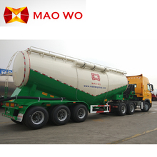 MAOWO manufacture air compressor dry powder tanker semi bulk cement trailer