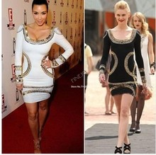 New Women Celebrity Gold Foil Mini Tunic Dress Sexy Bodycon Long sleeve Ladies party Dress plus size 19671