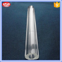 hot sale clear hollow borosilicate glass tube with thick-wall for LED lighting
