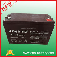 C10 high capacity 12V 100ah VRLA solar energy storage battery