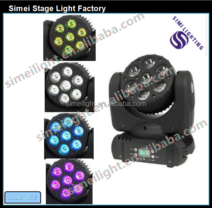 Quality and quantity assured 7*12W led RGBW moving head beam light